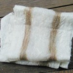 Alpaca and Silk Felted Scarf