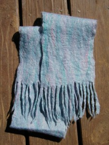 Sunset Felted Scarf